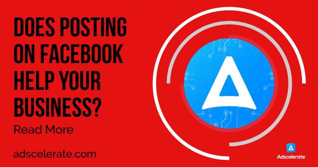 posting on facebook page adscelerate marketing